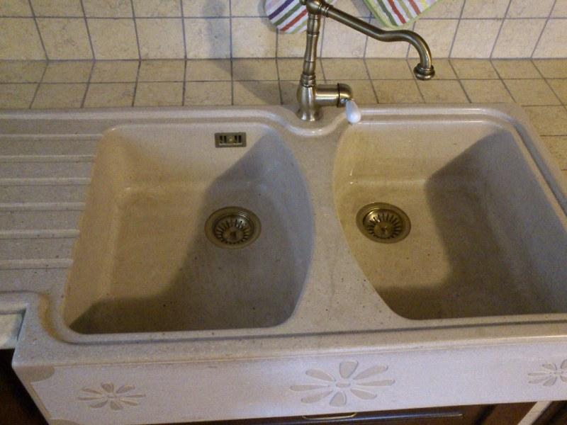 lavabo per cucina doppia vasca con gocciolatoio